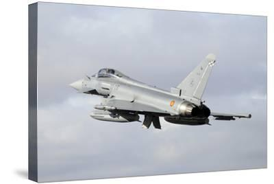 Spanish Air Force Eurofighter Ef2000 Typhoon Taking Off-Stocktrek Images-Stretched Canvas Print