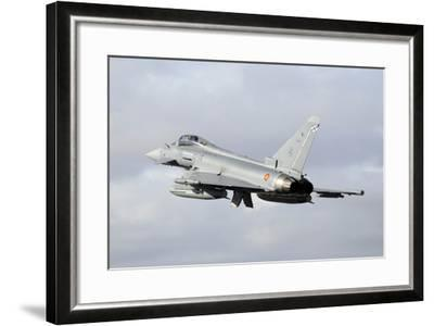 Spanish Air Force Eurofighter Ef2000 Typhoon Taking Off-Stocktrek Images-Framed Photographic Print