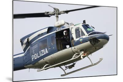 An Agusta Bell 212 of Italy's State Police in Flight over Italy-Stocktrek Images-Mounted Photographic Print