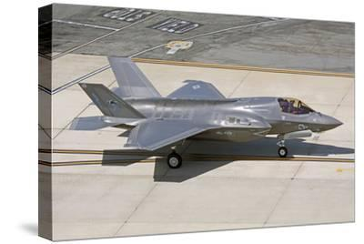 F-35B on the Flight Line Nellis Air Force Base, Nevada-Stocktrek Images-Stretched Canvas Print