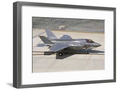 F-35B on the Flight Line Nellis Air Force Base, Nevada-Stocktrek Images-Framed Photographic Print