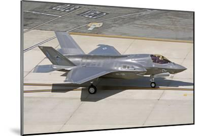 F-35B on the Flight Line Nellis Air Force Base, Nevada-Stocktrek Images-Mounted Photographic Print