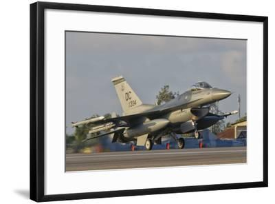 U.S. Air Force F-16 Fighting Falcon Taking Off-Stocktrek Images-Framed Photographic Print