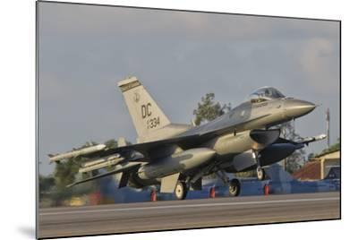 U.S. Air Force F-16 Fighting Falcon Taking Off-Stocktrek Images-Mounted Photographic Print