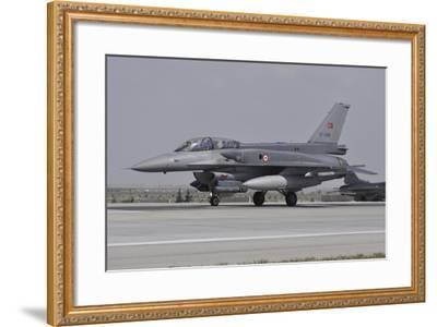 A Turkish Air Force F-16C Block 52+ at Konya Air Base, Turkey-Stocktrek Images-Framed Photographic Print