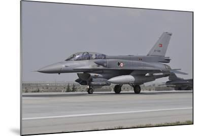 A Turkish Air Force F-16C Block 52+ at Konya Air Base, Turkey-Stocktrek Images-Mounted Photographic Print