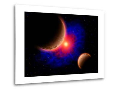 The Eye of a Nebula, a Star at the Center of a Gaseous Nebula-Stocktrek Images-Metal Print