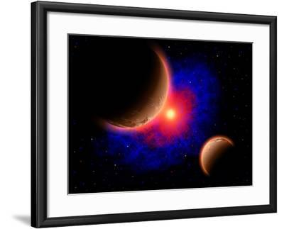 The Eye of a Nebula, a Star at the Center of a Gaseous Nebula-Stocktrek Images-Framed Art Print