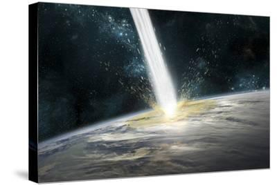 A Comet Strikes Earth-Stocktrek Images-Stretched Canvas Print