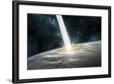 A Comet Strikes Earth-Stocktrek Images-Framed Photographic Print