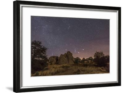 Orion Rising at the City of Rocks State Park, New Mexico-Stocktrek Images-Framed Photographic Print