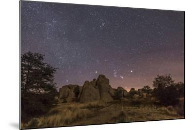 Orion Rising at the City of Rocks State Park, New Mexico-Stocktrek Images-Mounted Photographic Print