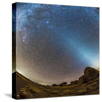 Comet Lovejoy and Zodiacal Light in City of Rocks State Park, New Mexico-Stocktrek Images-Stretched Canvas Print