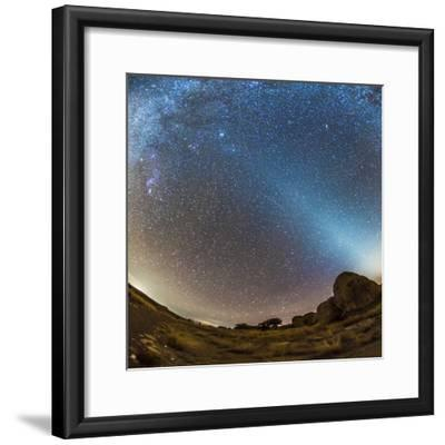 Comet Lovejoy and Zodiacal Light in City of Rocks State Park, New Mexico-Stocktrek Images-Framed Photographic Print