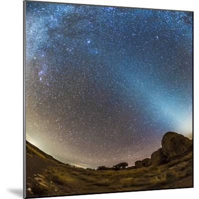 Comet Lovejoy and Zodiacal Light in City of Rocks State Park, New Mexico-Stocktrek Images-Mounted Photographic Print