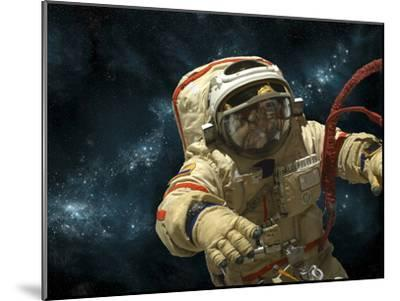 A Cosmonaut Against a Background of Stars-Stocktrek Images-Mounted Photographic Print