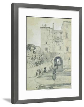 Stairs Leading to S. Pietro in Vincoli-Edward Lear-Framed Giclee Print