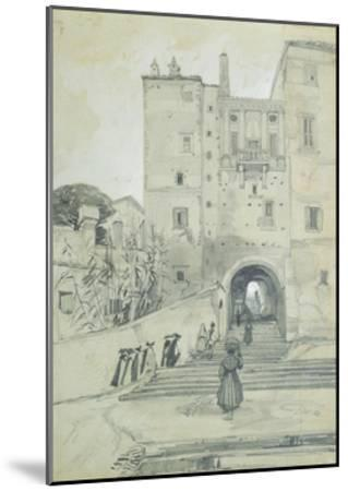 Stairs Leading to S. Pietro in Vincoli-Edward Lear-Mounted Giclee Print