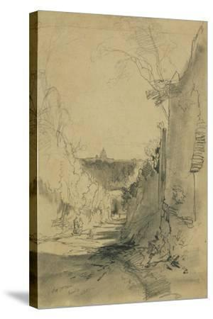 St Peter's from Arco Oscuro-Edward Lear-Stretched Canvas Print