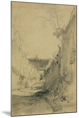 St Peter's from Arco Oscuro-Edward Lear-Mounted Giclee Print