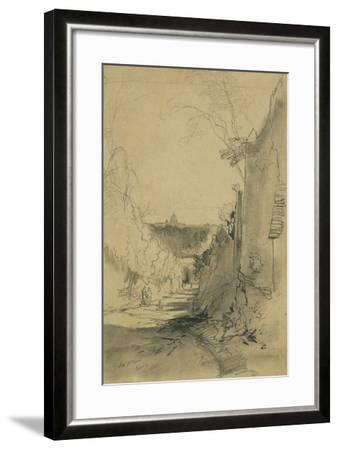 St Peter's from Arco Oscuro-Edward Lear-Framed Giclee Print