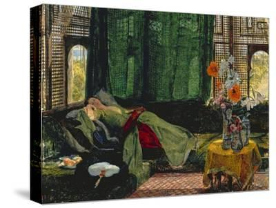 The Siesta-John Frederick Lewis-Stretched Canvas Print