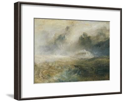 Rough Sea with Wreckage-J^ M^ W^ Turner-Framed Giclee Print