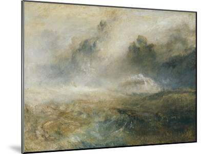 Rough Sea with Wreckage-J^ M^ W^ Turner-Mounted Giclee Print