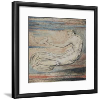 Urizen, Plate 2 of Urizen: Teach These Souls to Fly-William Blake-Framed Giclee Print