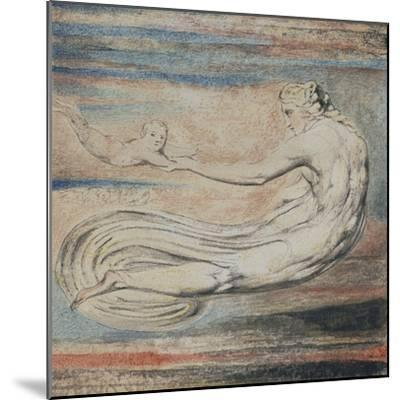 Urizen, Plate 2 of Urizen: Teach These Souls to Fly-William Blake-Mounted Giclee Print