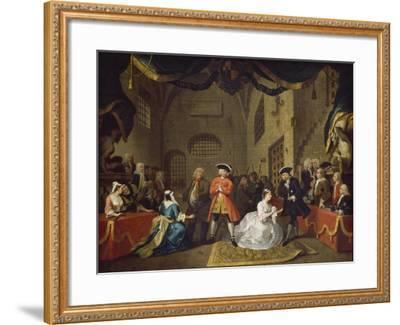A Scene from The Beggar's Opera VI-William Hogarth-Framed Giclee Print