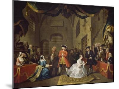 A Scene from The Beggar's Opera VI-William Hogarth-Mounted Giclee Print