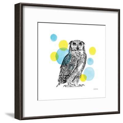 Sketchbook Lodge Owl-Lamai McCartan-Framed Art Print