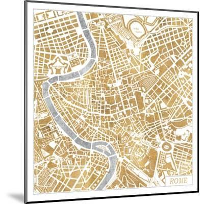 Gilded Rome Map-Laura Marshall-Mounted Art Print