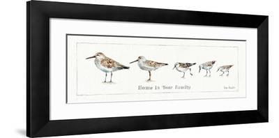 Pebbles and Sandpipers IX-Lisa Audit-Framed Art Print