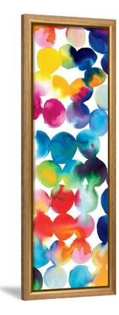 Bright Circles III-Hugo Wild-Framed Stretched Canvas Print