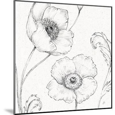 Blossom Sketches I-Daphne Brissonnet-Mounted Art Print