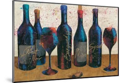 Wine Splash Light I-Jim Wellington-Mounted Premium Giclee Print