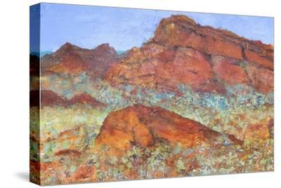 Red Mountain-Margaret Coxall-Stretched Canvas Print