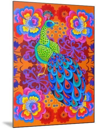 Peacock with Flowers, 2015-Jane Tattersfield-Mounted Giclee Print