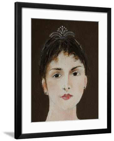 Close Up of Standing Ballerina-Susan Adams-Framed Giclee Print