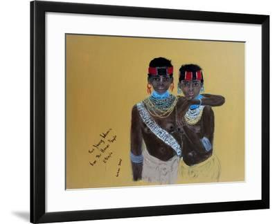 Two Young Girls from the Hamer People Ethiopia, 2015-Susan Adams-Framed Giclee Print
