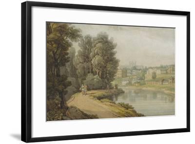 Exeter as Seen from the River, 1816-John White Abbott-Framed Giclee Print