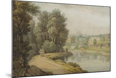 Exeter as Seen from the River, 1816-John White Abbott-Mounted Giclee Print