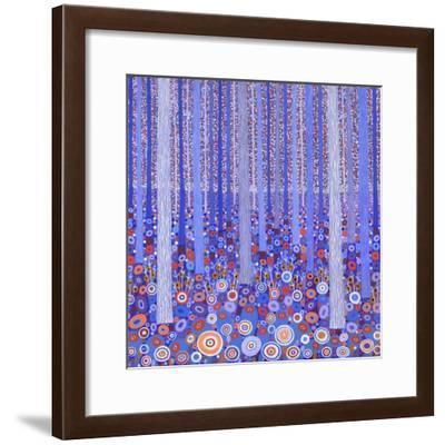 Blue Orange Forest, 2015-David Newton-Framed Giclee Print