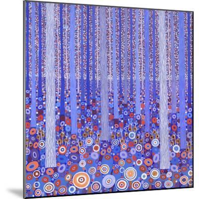 Blue Orange Forest, 2015-David Newton-Mounted Giclee Print