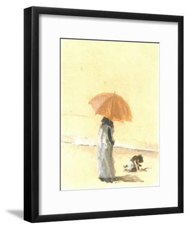 Woman and Child on Beach, 2015-Lincoln Seligman-Framed Giclee Print