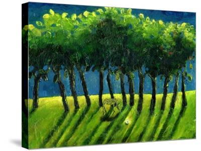 Zebra Trees, 2005-Gigi Sudbury-Stretched Canvas Print