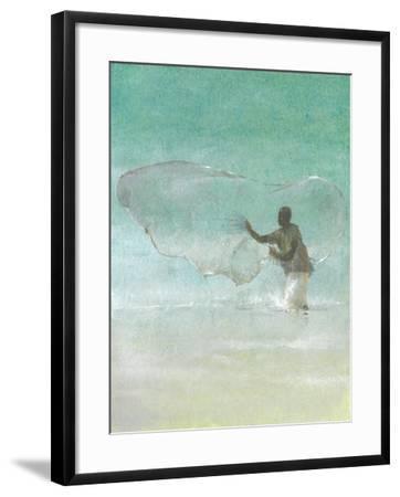 Lone Fisherman 5, 2015-Lincoln Seligman-Framed Giclee Print