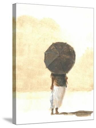Umbrella and Fish 2, 2015-Lincoln Seligman-Stretched Canvas Print